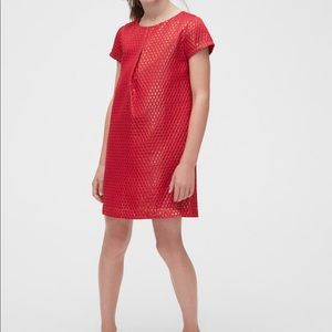 Gap Metallic Pleated Dress in Jacquard